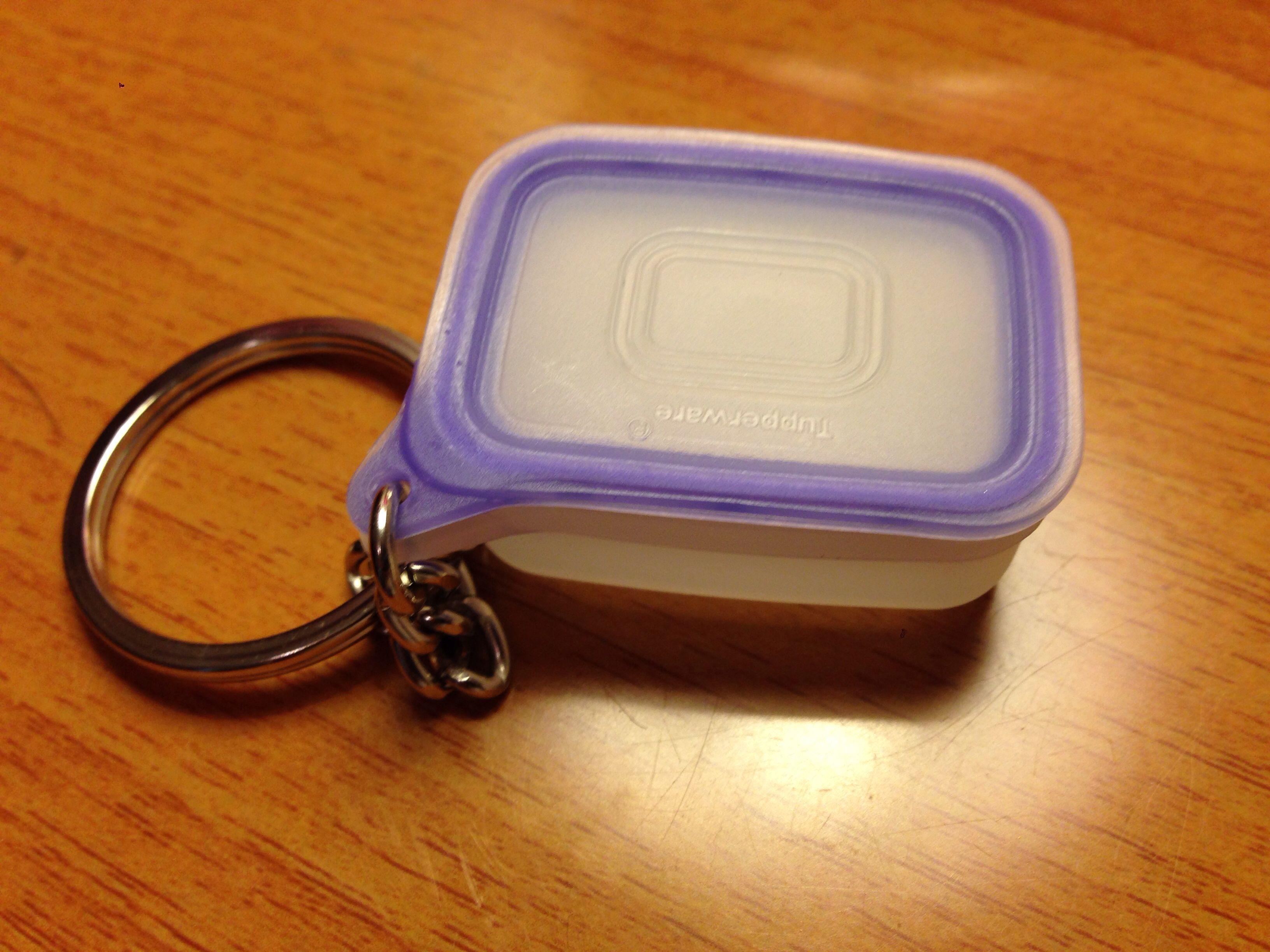 Tupperware Keychain Fridgesmart Rare Classic