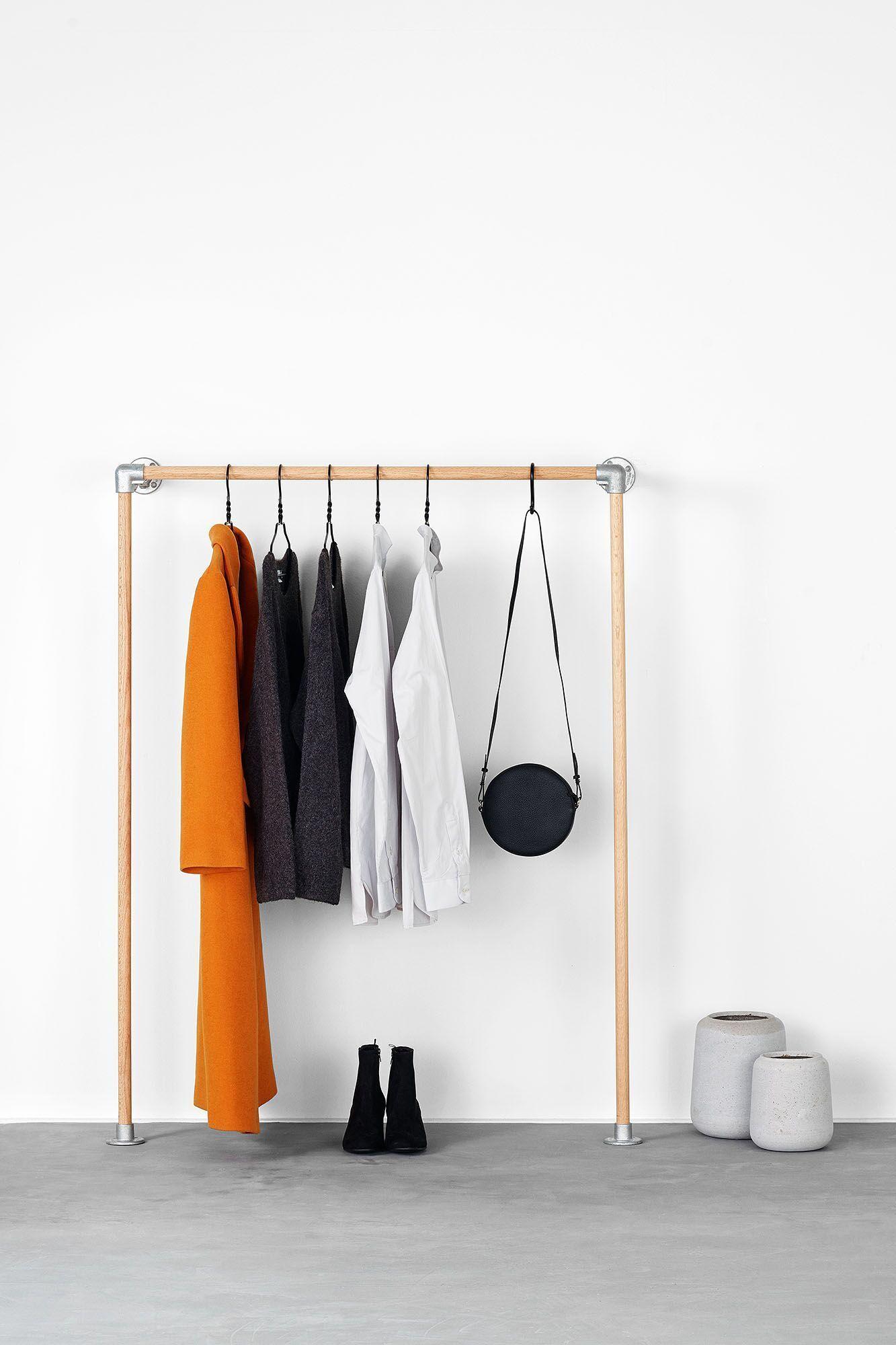monika – kleiderständer mit wandbefestigung   schlafzimmer