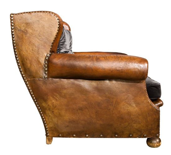 French Leather Wingback Club Chair c.1920 : The Old Cinema – Antique  Furniture, - French Leather Wingback Club Chair C.1920 : The Old Cinema