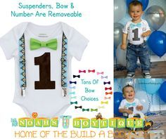 Monkey Birthday Outfit Baby Boy - First Birthday Monkey Outfit - Monkey Birthday Shirt - Monkey Theme Party