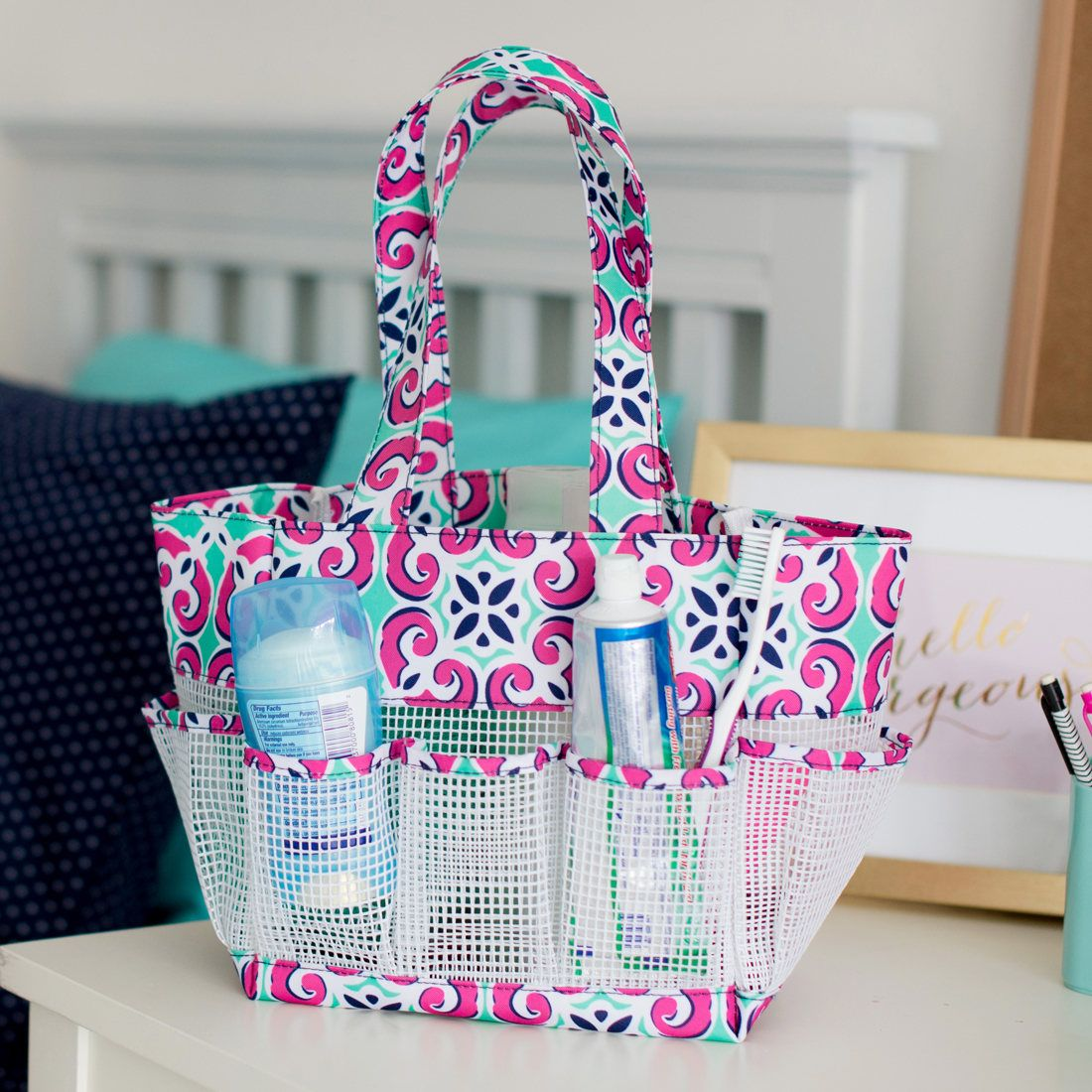 Mia Shower Caddy - Shower Caddy - Girl\'s Shower Caddy - Personalized ...