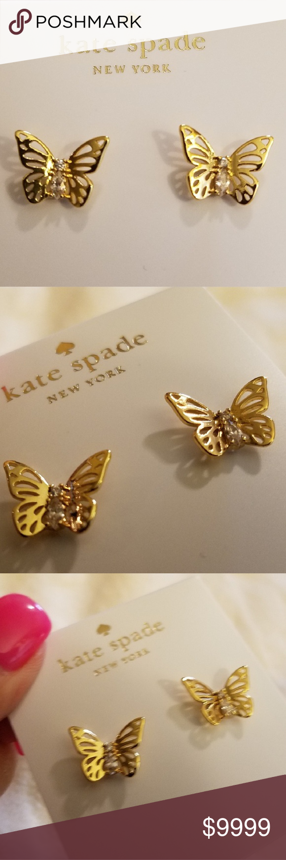 527446817 Kate♤️Spade 🚫NO Rediculous Lowball Offers. 🦋Social Butterfly🦋 Earrings3  You can