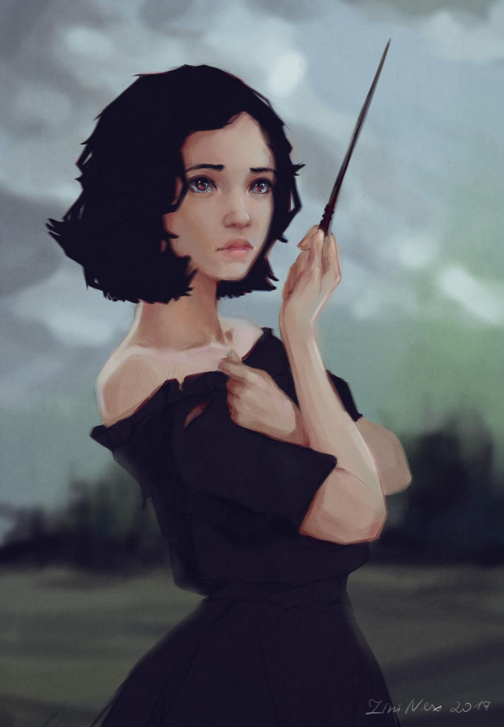 Artstation The Scared Girl Lini Nex In 2020 Character Portraits Digital Art Girl Character Art