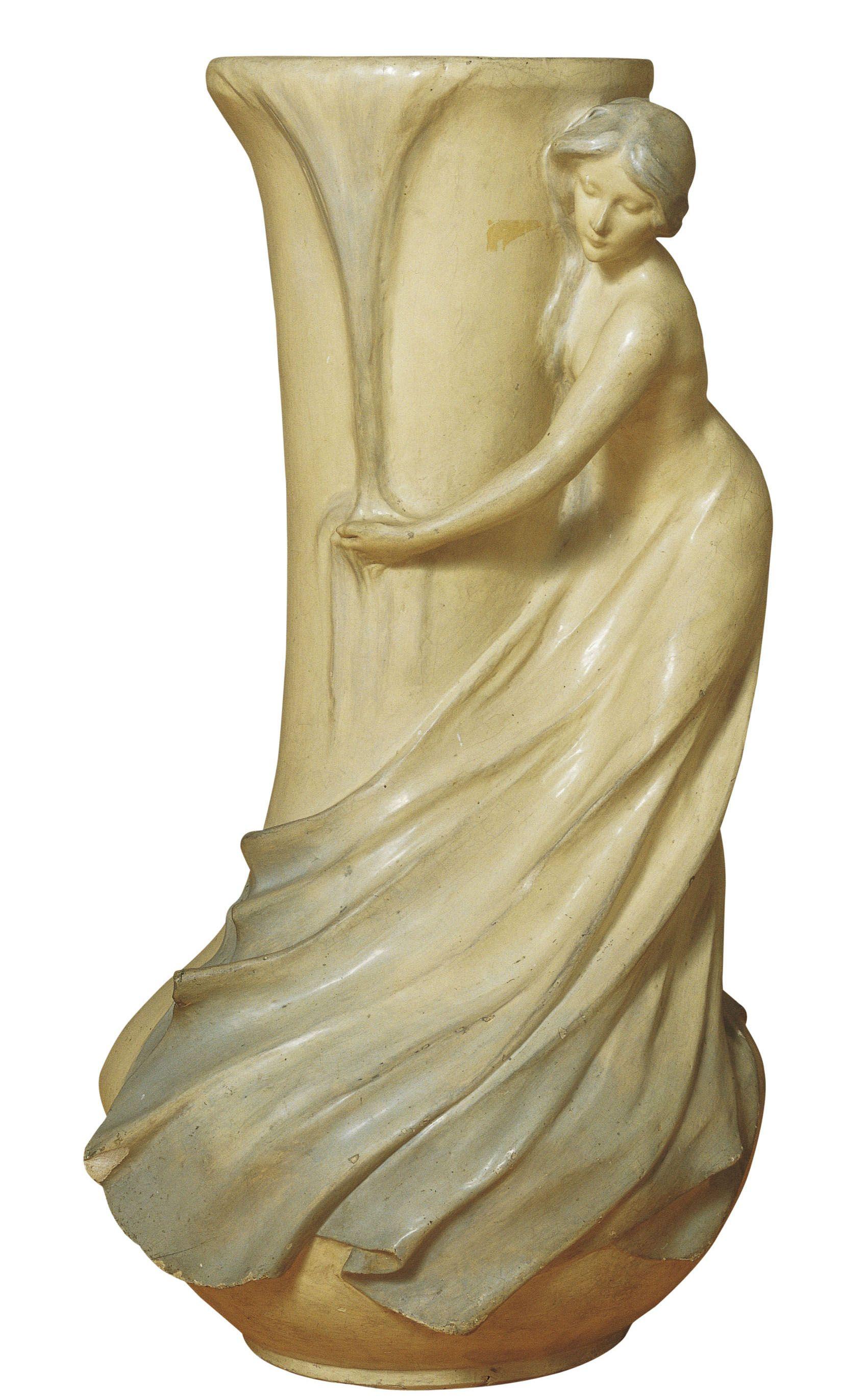 Gerro amb figura femenina   Museu Nacional d'Art de Catalunya