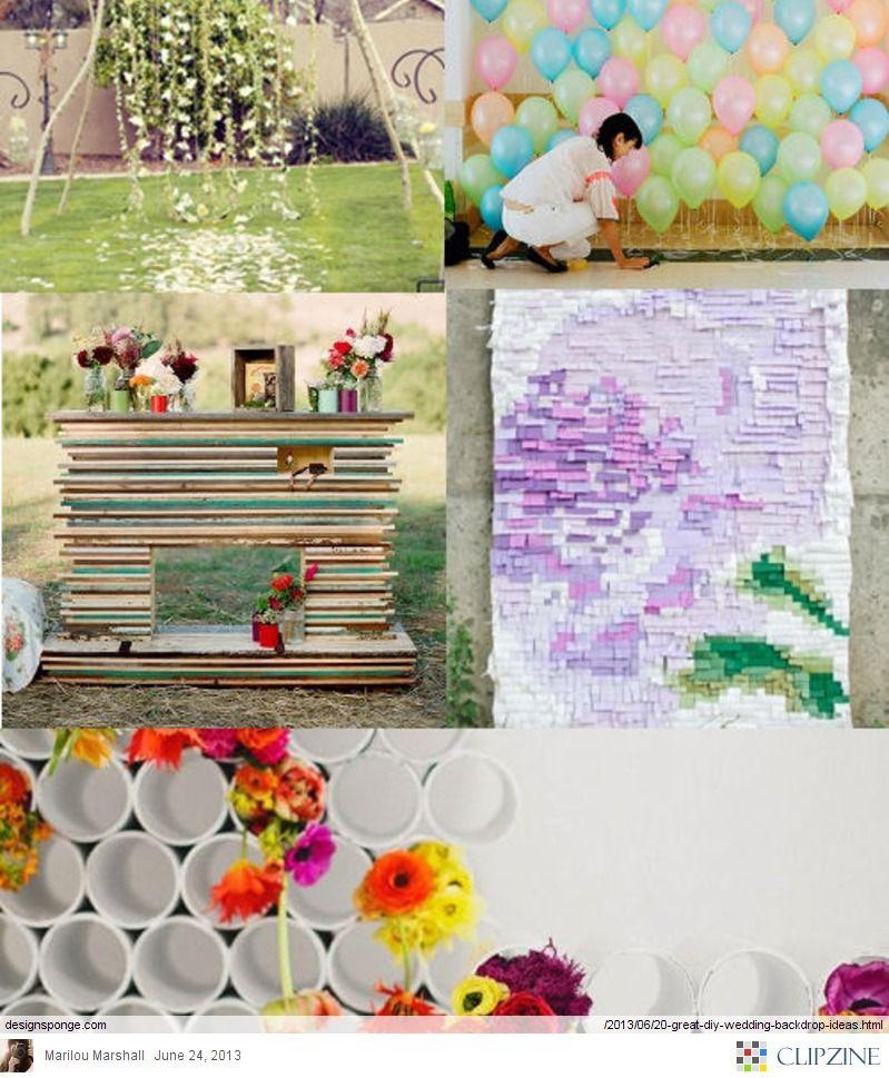 20 Great Diy Wedding Backdrop Ideas Design Sponge Wedding Ideas