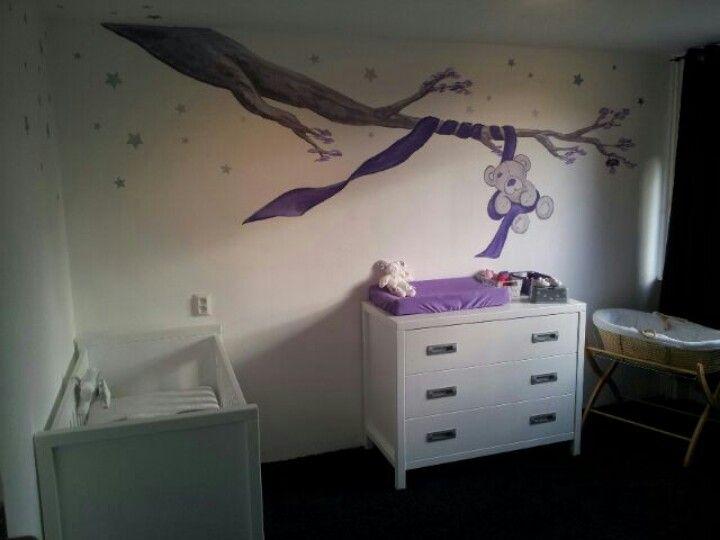 Muurschildering babykamer made by Agnes Smit