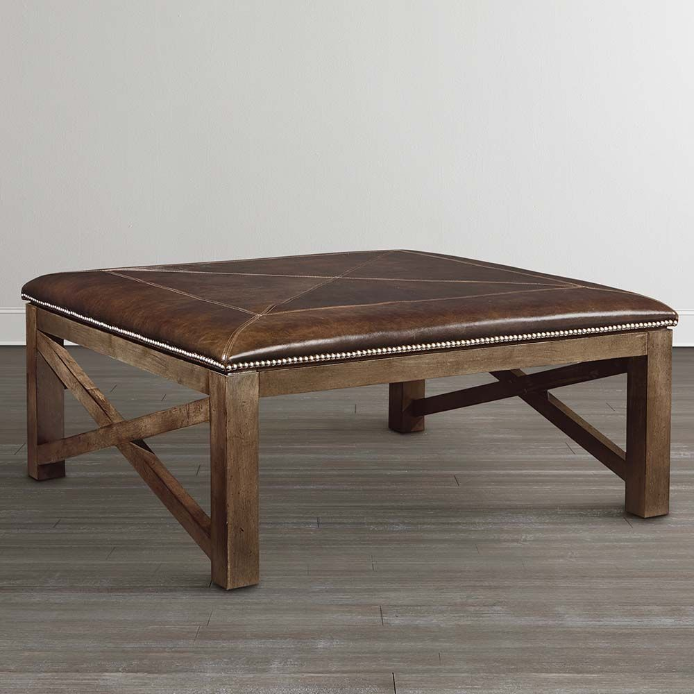 Industrial Coffee Table Ottoman: Campbell - Main Level
