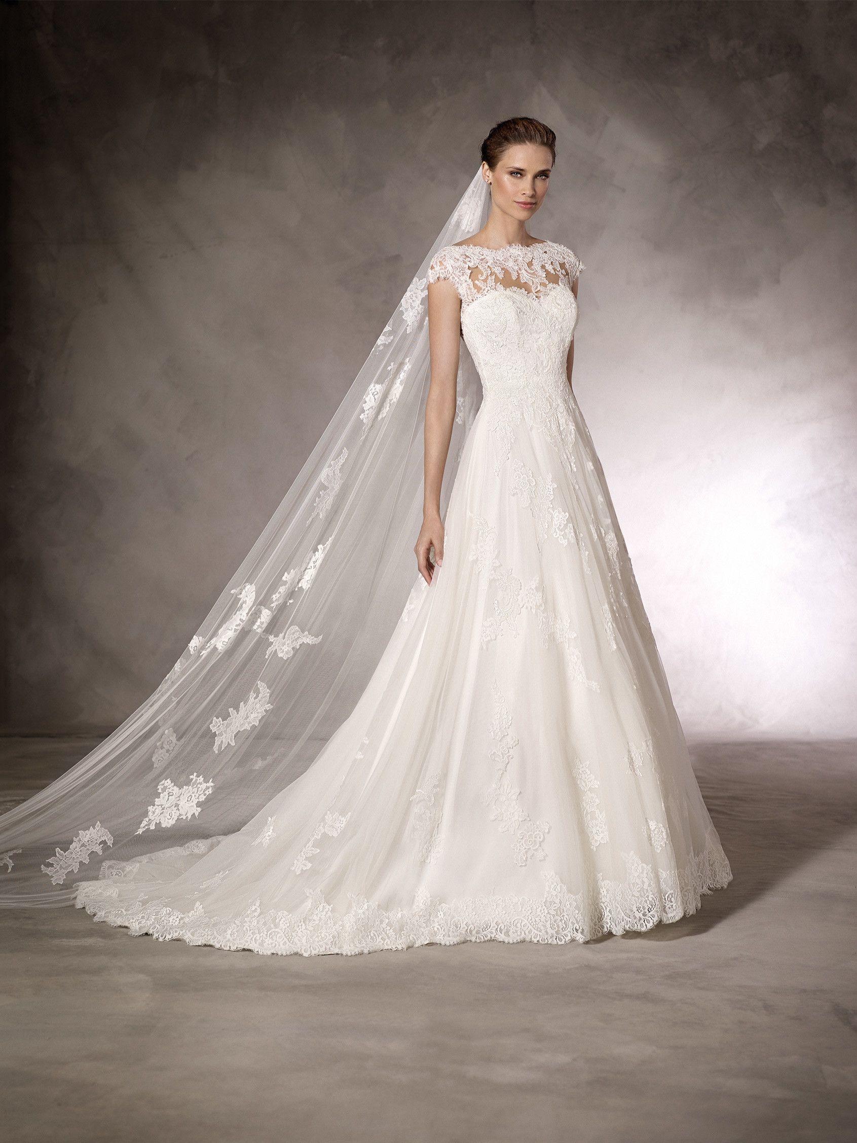 db219eb7a KEYLA - Vestido de novia de escote corazón en encaje
