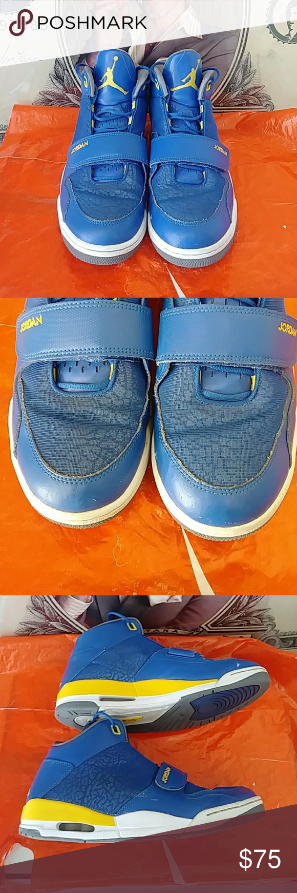 3648726c312 Nike Air Jordan Flightclub 90's In great used condition no tears or holes Golden  State Warriors SZ 10.5 ( 602661-489 ) Jordan Shoes Sneakers