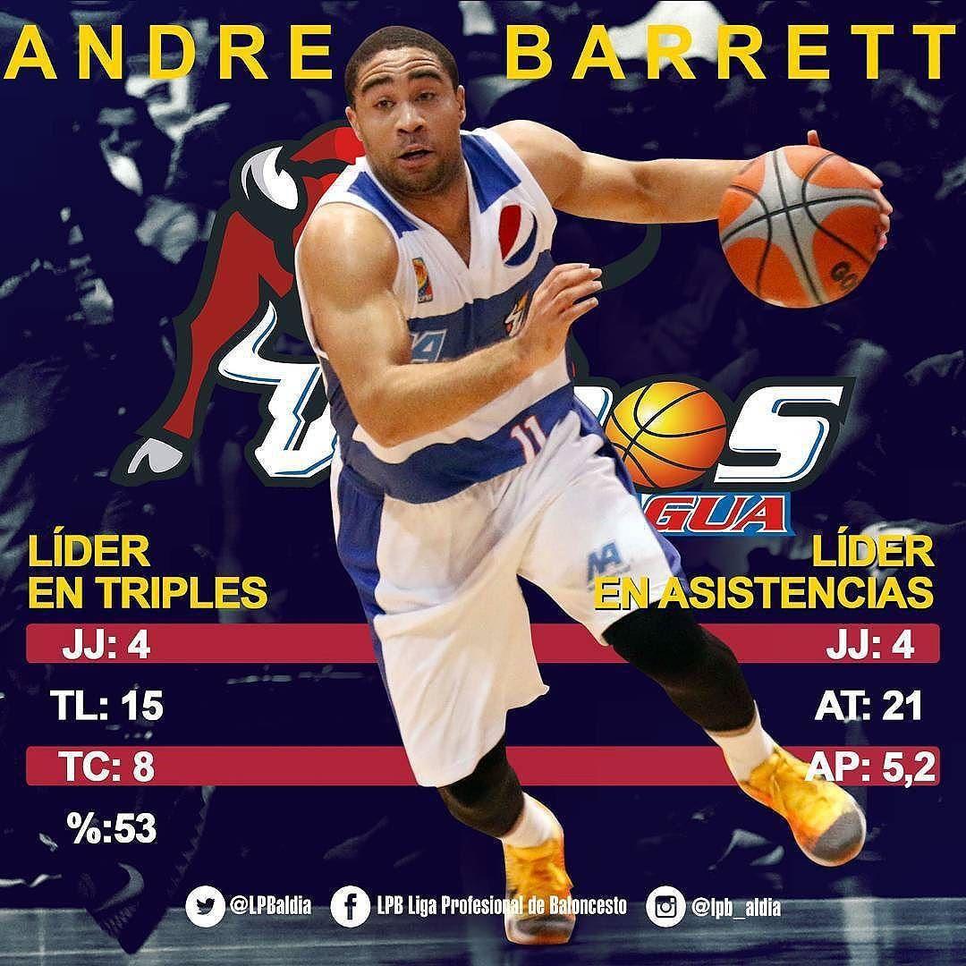 by @lpb_aldia #FanaticoBasket  Andre Barret la mata de lejitos y siempre habilita a sus compañeros. Líder en triples y asistencias. #LíderesLPB #LPB