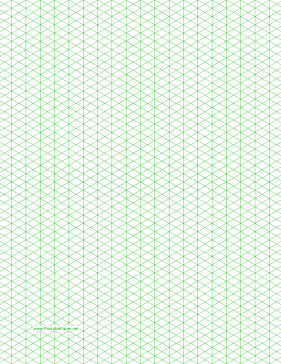 Printable Isometric Grid Paper | Isometric Graph Paper with