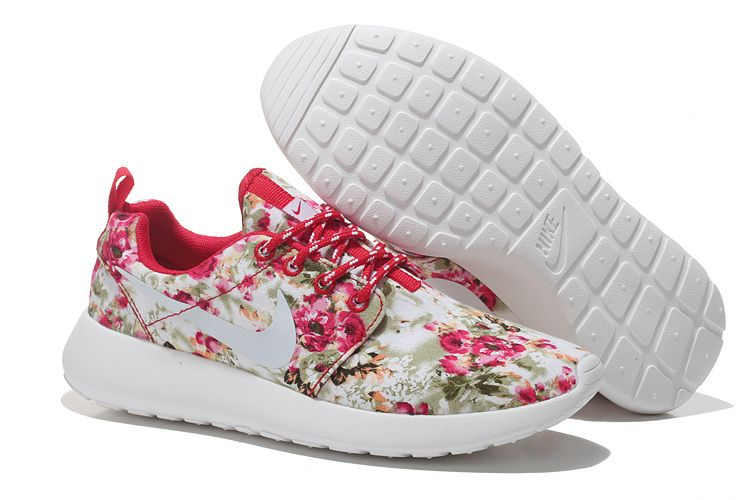 7ae97cb3618b Nike Roshe Run Womens all flower fire red shoes