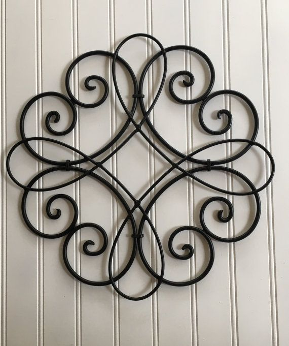 Metal Wall Art Black Decor Hanging Swirled Outdoor Round Walls And