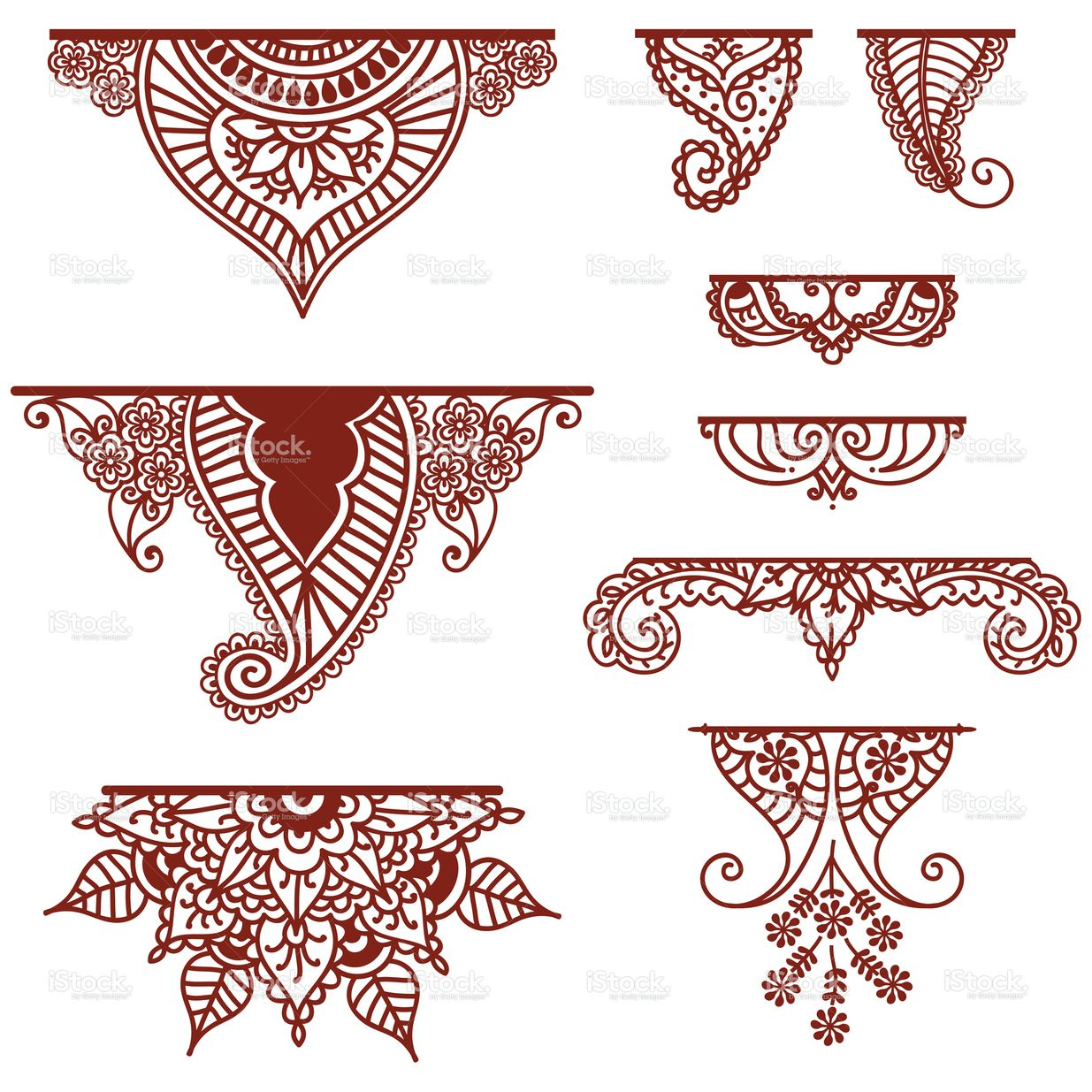 Horizontal Line Tattoo: A Collection Of Decorative Ornaments