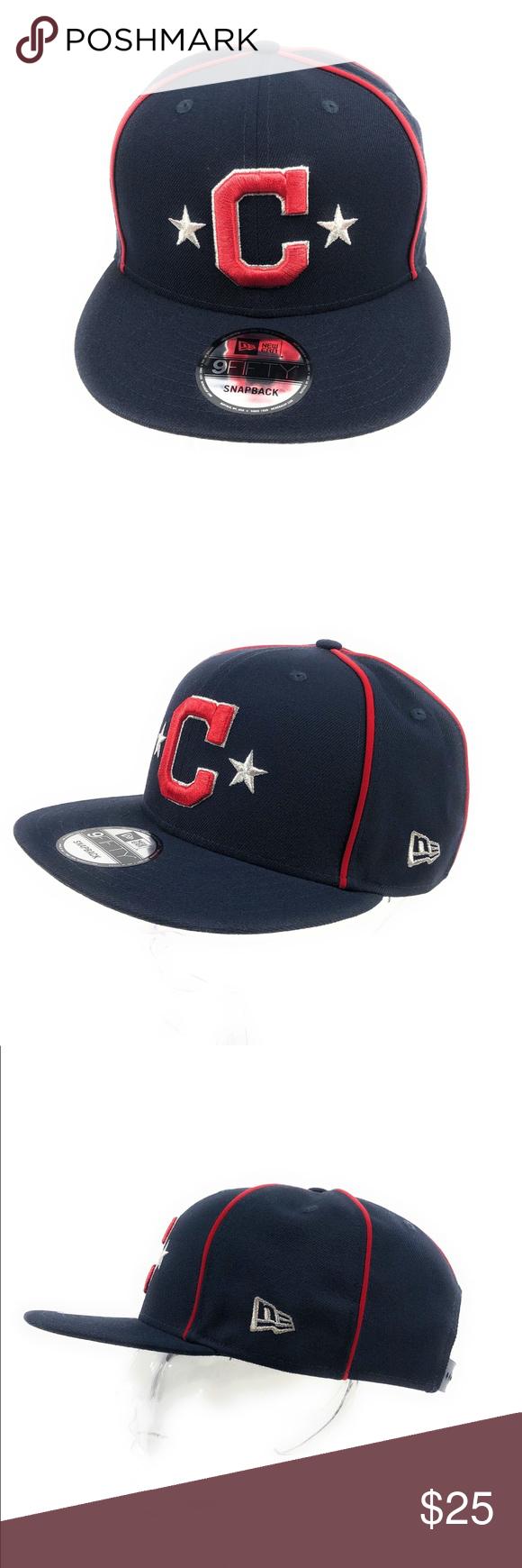 New Era 9fifty Cleveland Indians Mlb Snapback Hat Nwt New Era Baseball Hats New Era 59fifty