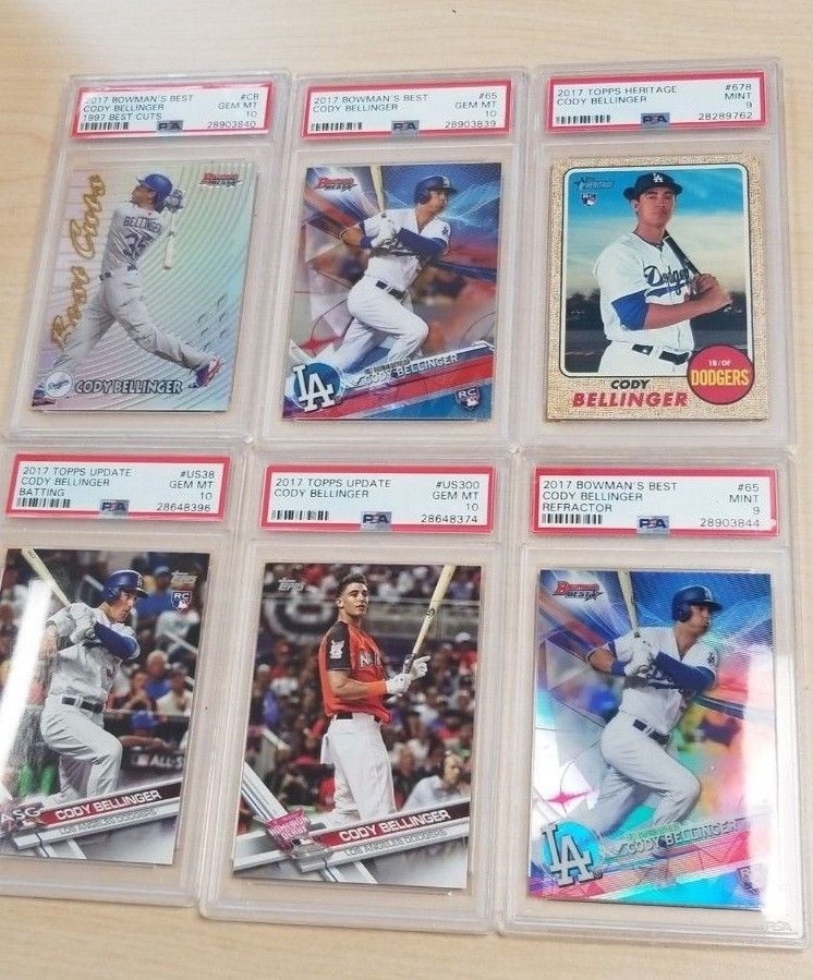2017 cody bellinger psa 10 and 9 mint lot of 6 rc rookie