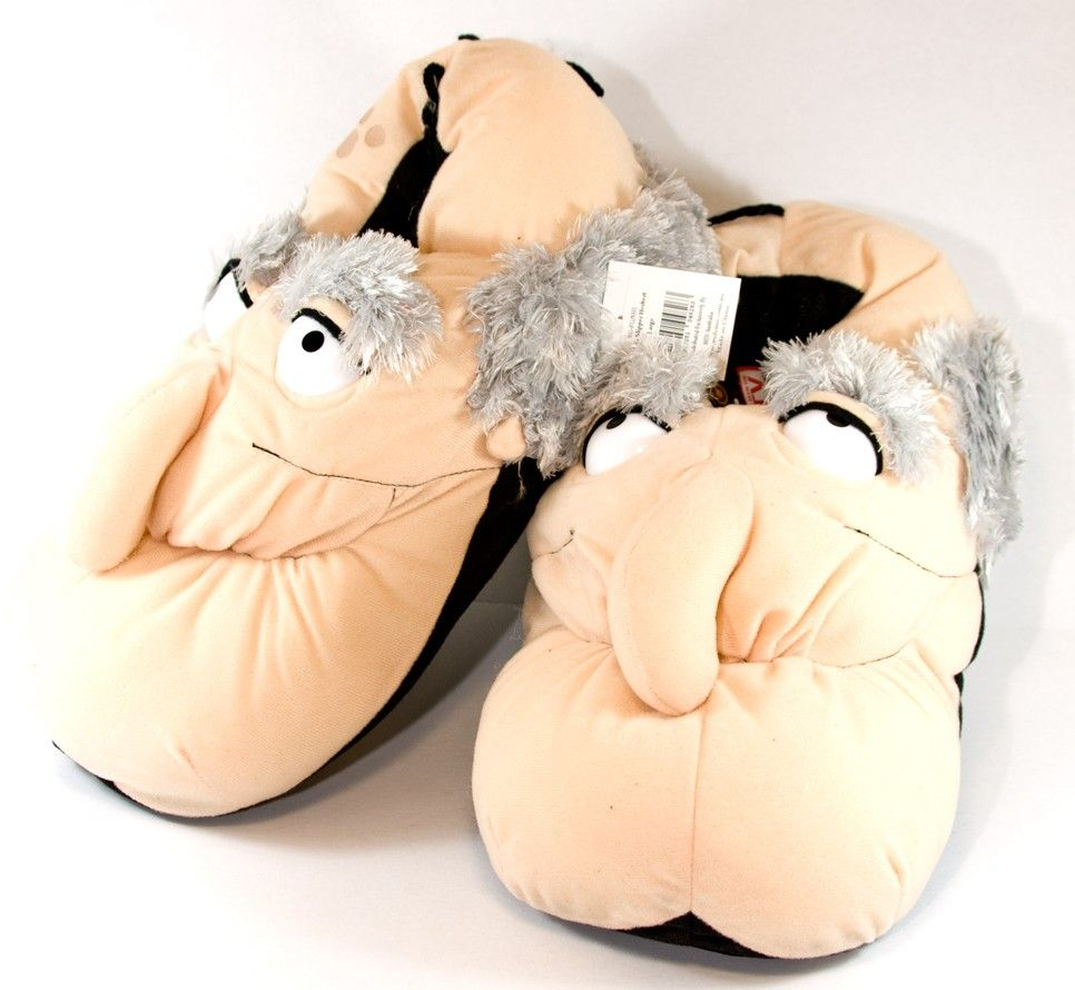 Funny slippers, Old man slippers, Slippers