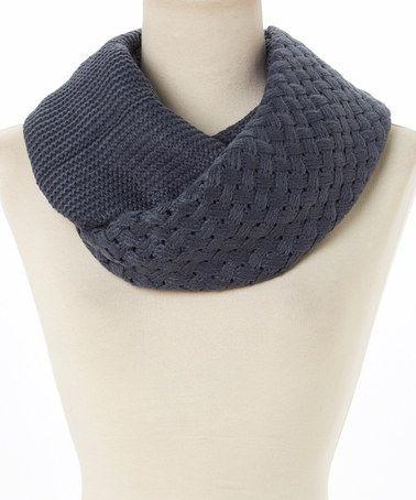 Another great find on #zulily! Dark Blue Multi-Knit Infinity Scarf #zulilyfinds