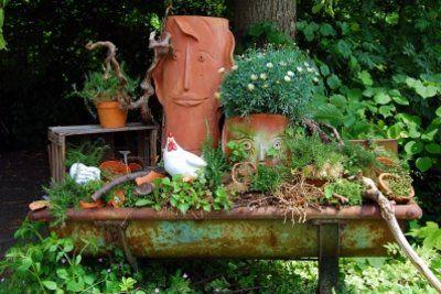 gartendeko selber machen oder basteln – bankroute, Garten und erstellen