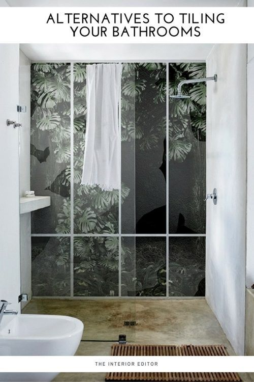 ordinary Bathroom Wall Decor Pinterest Part - 17: Alternatives to Tiling Your Bathrooms - Stylish alternatives to tiles.  Inspirational Waterproof Wallcoverings, bathroom decor, bathroom walls
