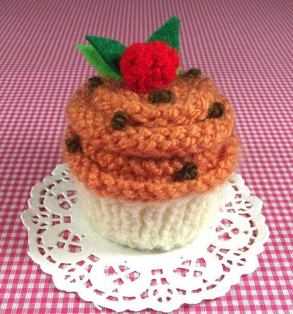 KNITTING PATTERN Pumpkin Cupcake Ornament Toy by ...