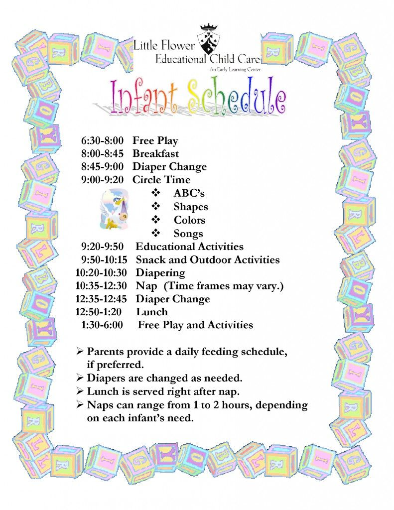 Infant Room Daycare Toddler: Little Flower Educational Child Care Center