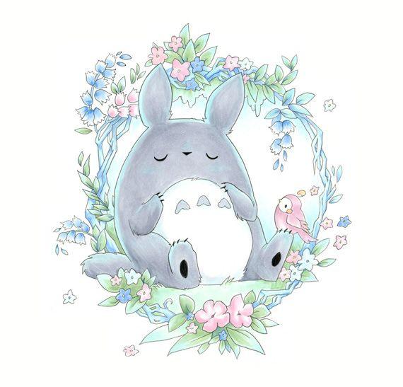 Sleepy Totoro by Cinnamoron on DeviantArt