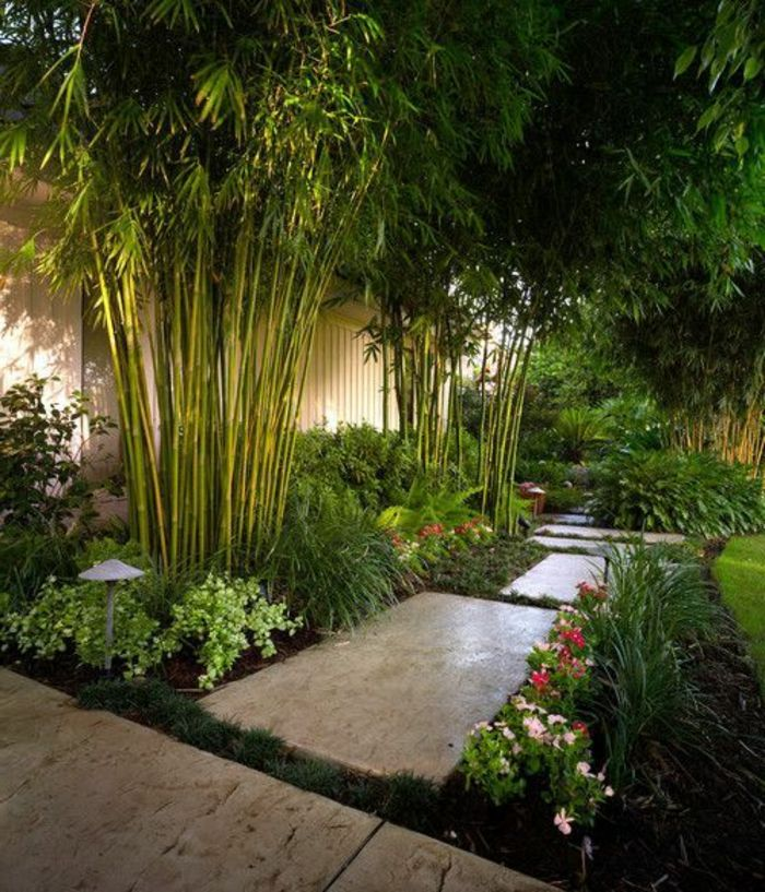 Le Jardin Paysager Tendance Moderne De Jardinage Archzine Fr Amenagement Jardin Jardins Et Bambous Jardin