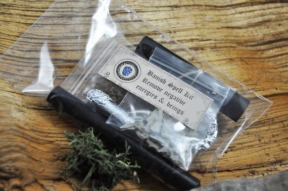Banishment / Removing negative energies Spell kit with ...