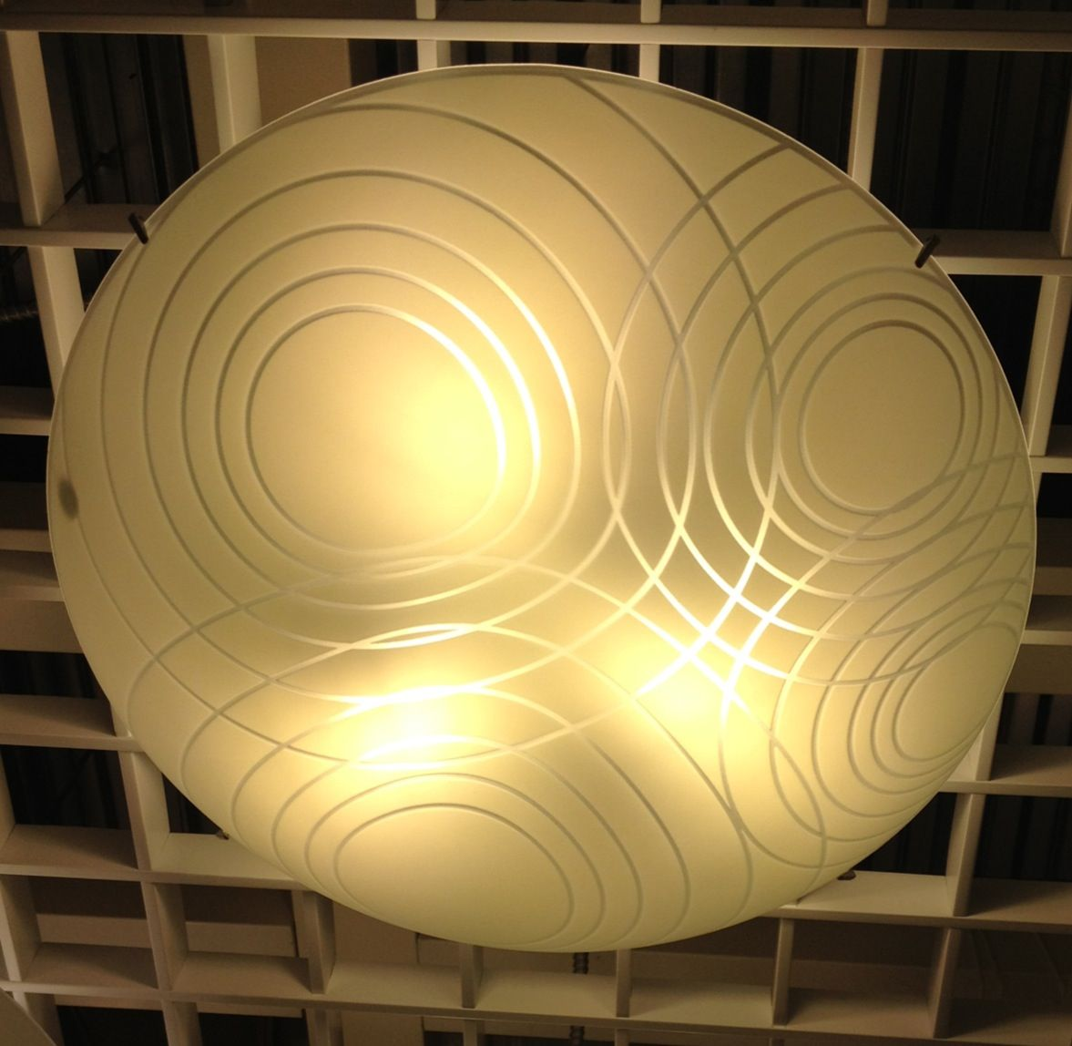 Purchased Ikea Calypso Circles Ceiling Fixture For Entry Laundry