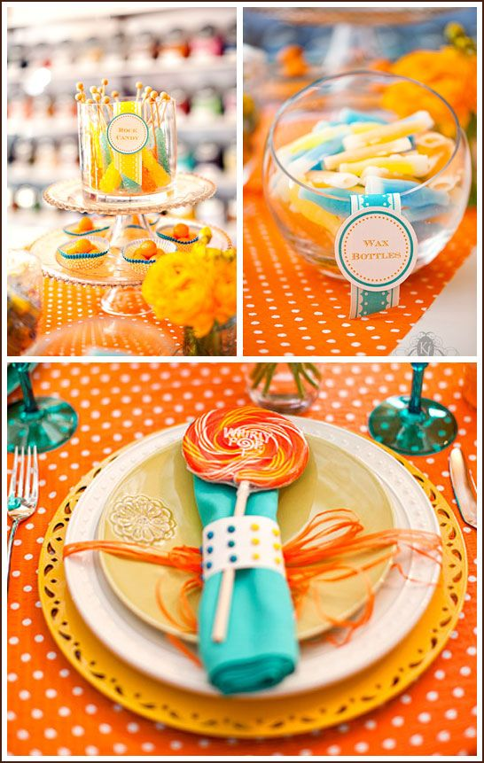 Cuckoo for Candy: Sweet candy dot napkin rings!