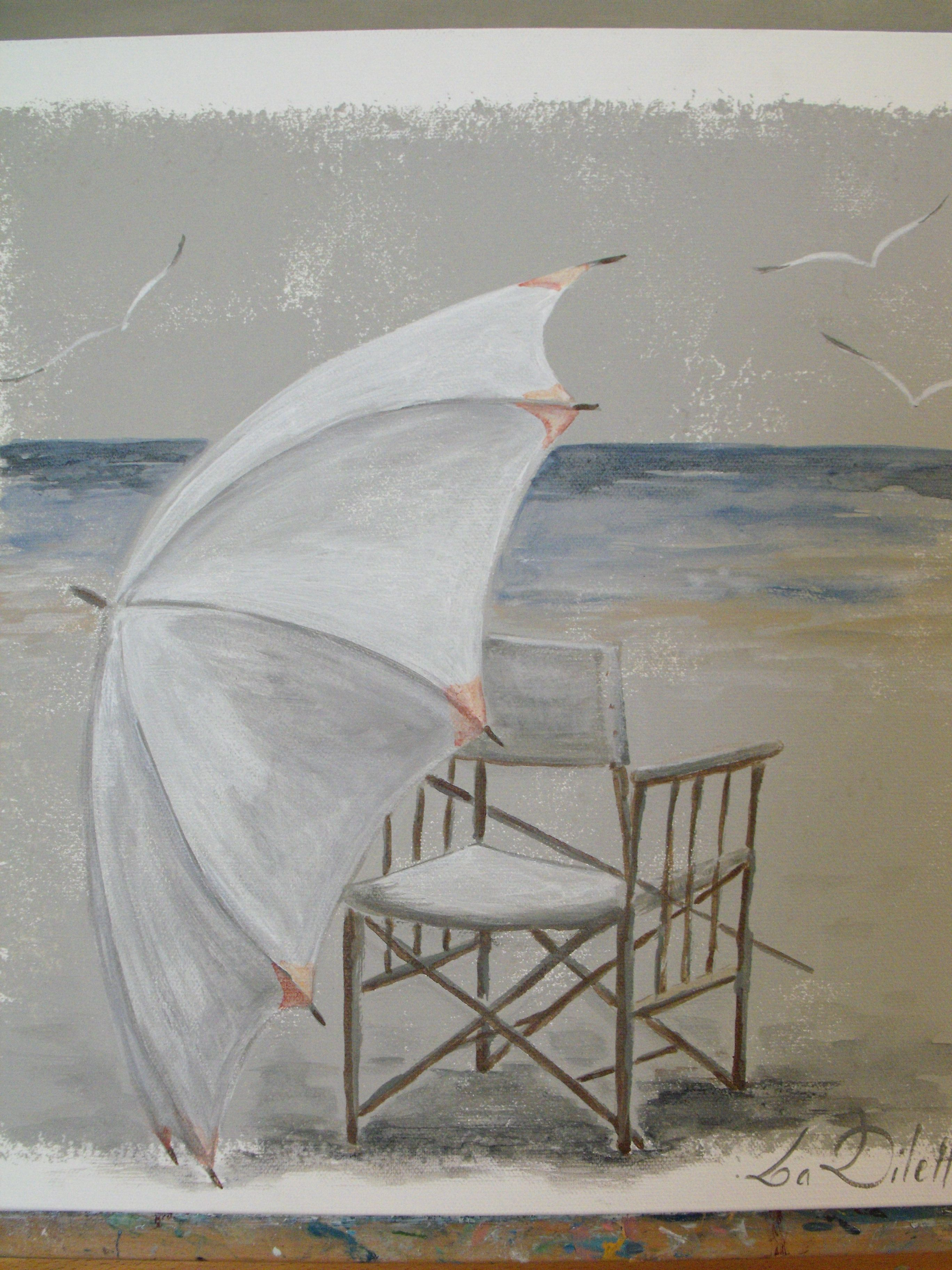 Bord De Mer Www Ladilettanteatelier Fr En 2019 Peinture Mer