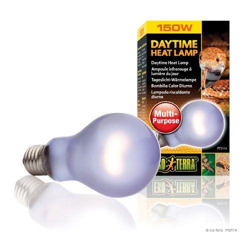 5 59 8 49 Exo Terra Sun Glo Neodymium A21 Lamp 150 Watt The Exo Terra Sun Glo A21 Neodymium Daylight Terrarium Lamp Provide Lamp Bulb