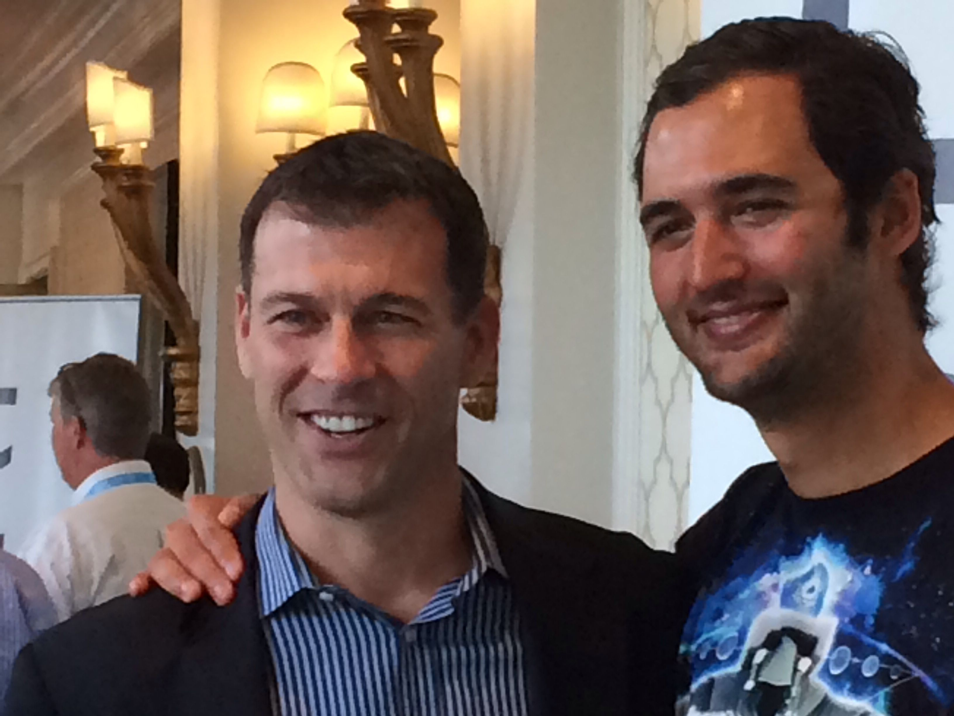 Jason Silva from the National Geographic's Brain Games spoke on the importance of futuristic technology. @ritzcarlton