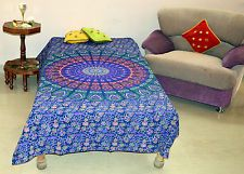 Indian Single Mandala Bedspread Hippie Bedsheet Gipsy Bed Cover Boho Table Cloth
