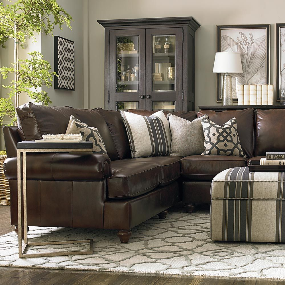 Custom Leather Montague Large L Shaped Sectional Brown Living Room Leather Couches Living Room Living Room Leather