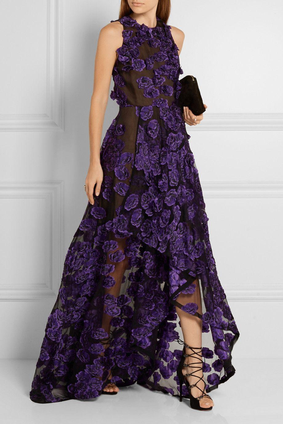Jason Wu | Floral-appliquéd fil coupé gown | NET-A-PORTER.COM ...
