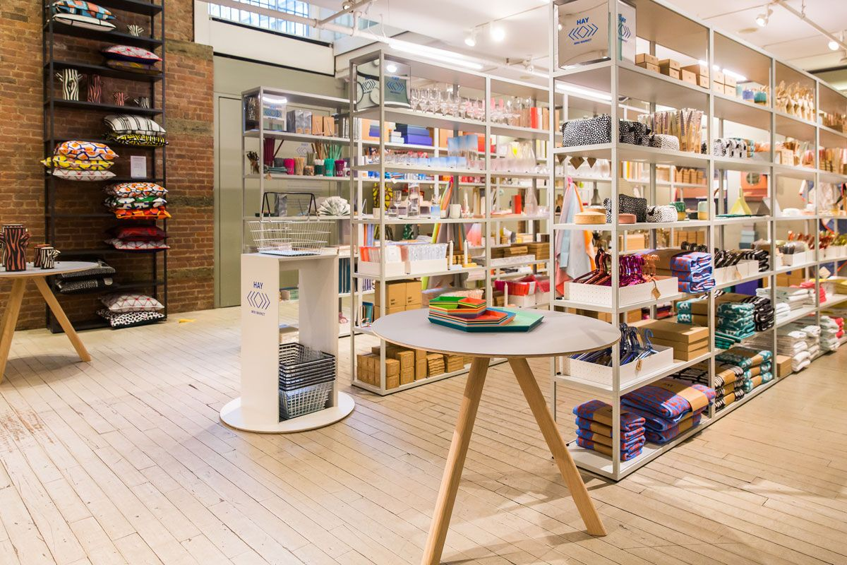 moma store brings hay mini market to new york moma store interiors and store design. Black Bedroom Furniture Sets. Home Design Ideas
