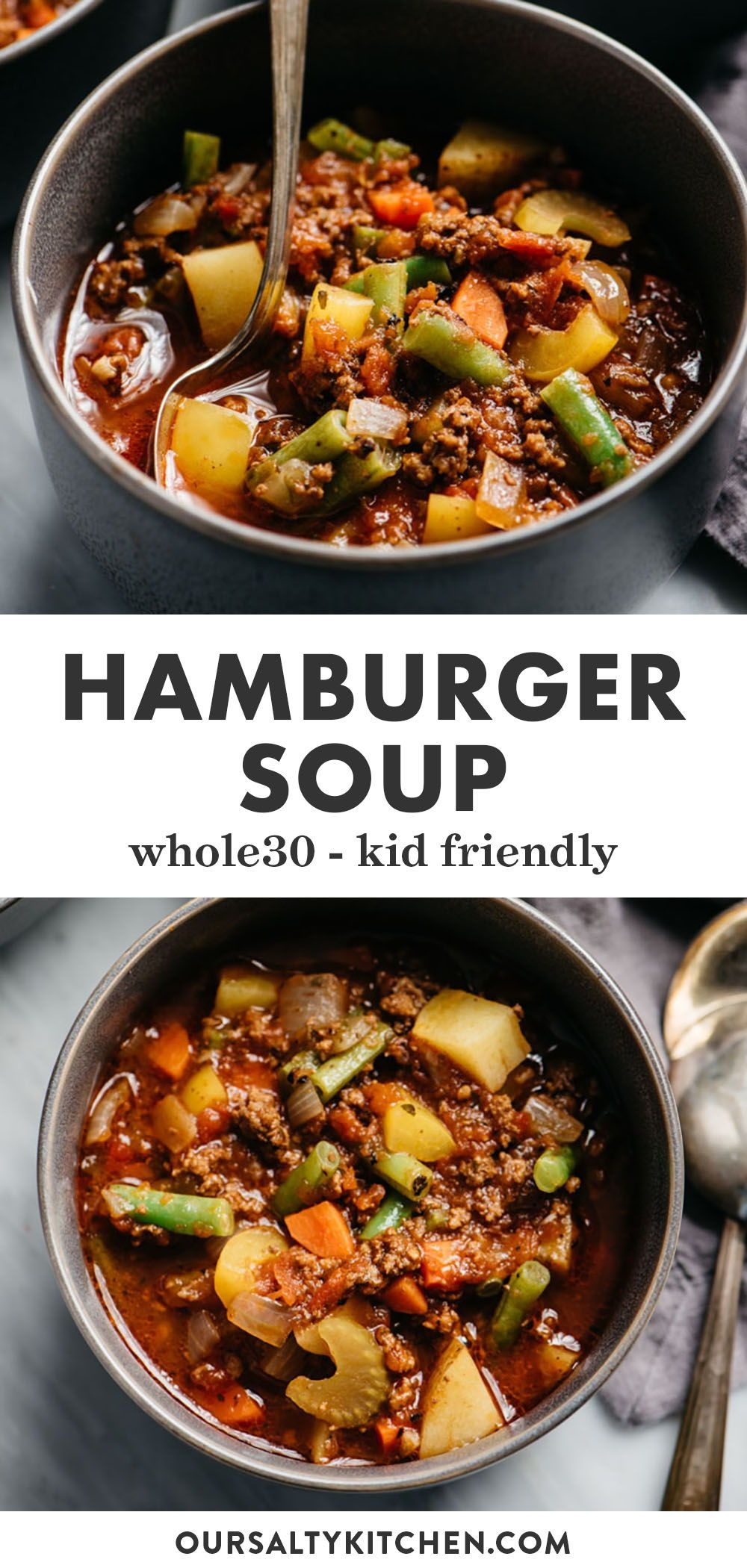 Paleo And Whole30 Hamburger Soup Recipe In 2020 Whole Food Recipes Beef Recipes Recipes