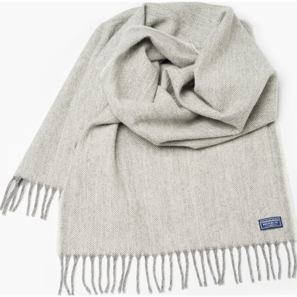 Faribault Ashby Twill Wool Scarf | Natural