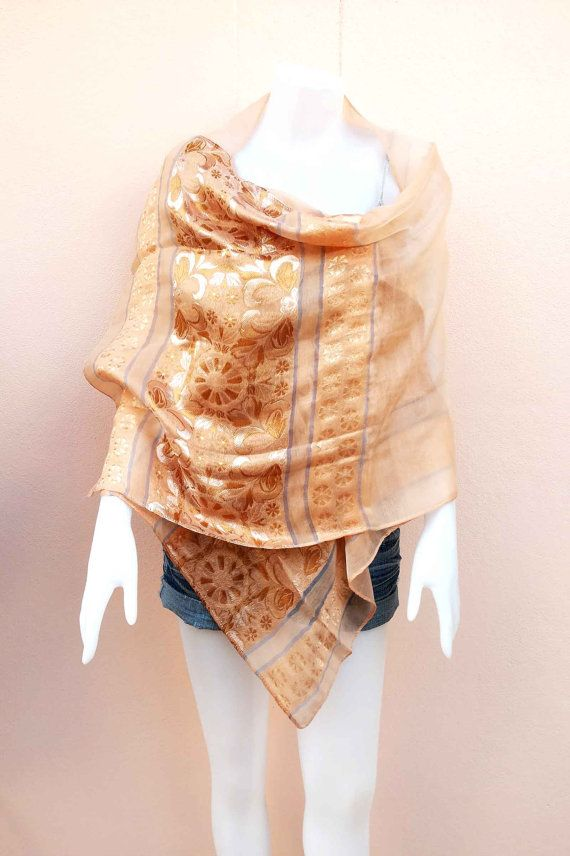 100 % Thai Raw Silk Scarf handwoven pure women by doucefleur