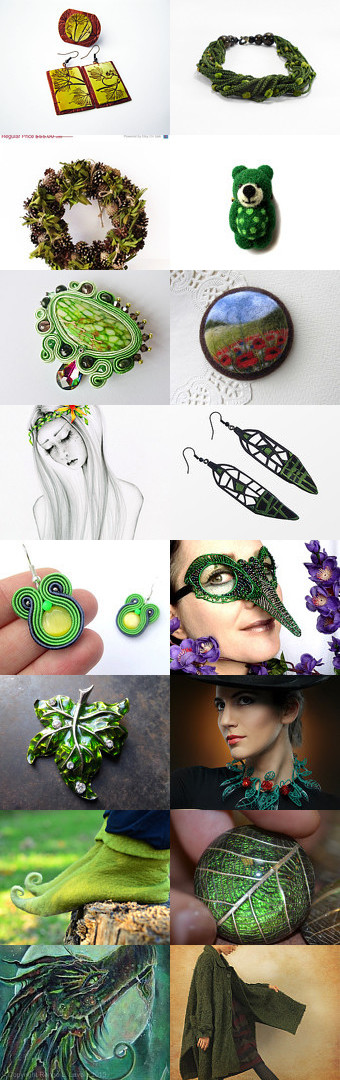 Love the green by Ringaile Radojevic on Etsy--Pinned with TreasuryPin.com