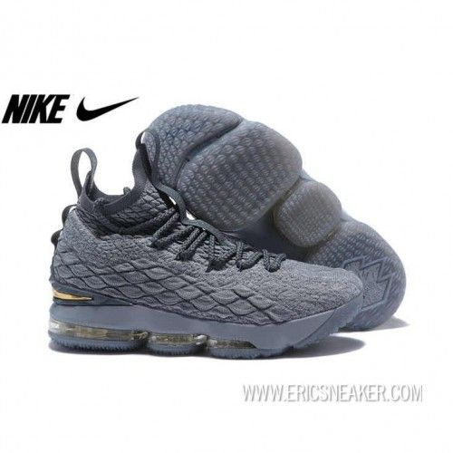 39724d4b6c6a3 NIKE LEBRON 15 897649-005 WOLF GREY MTLC GOLD-COOL GREY Basketball shoes