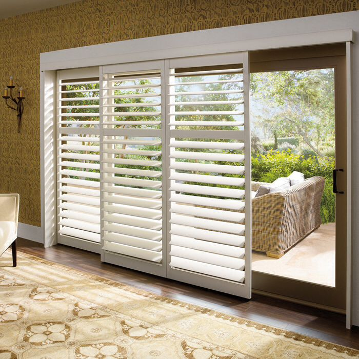 Bypass shutters sliding glass door window treatment ideas Pinterest - Modelo De Puertas Corredizas