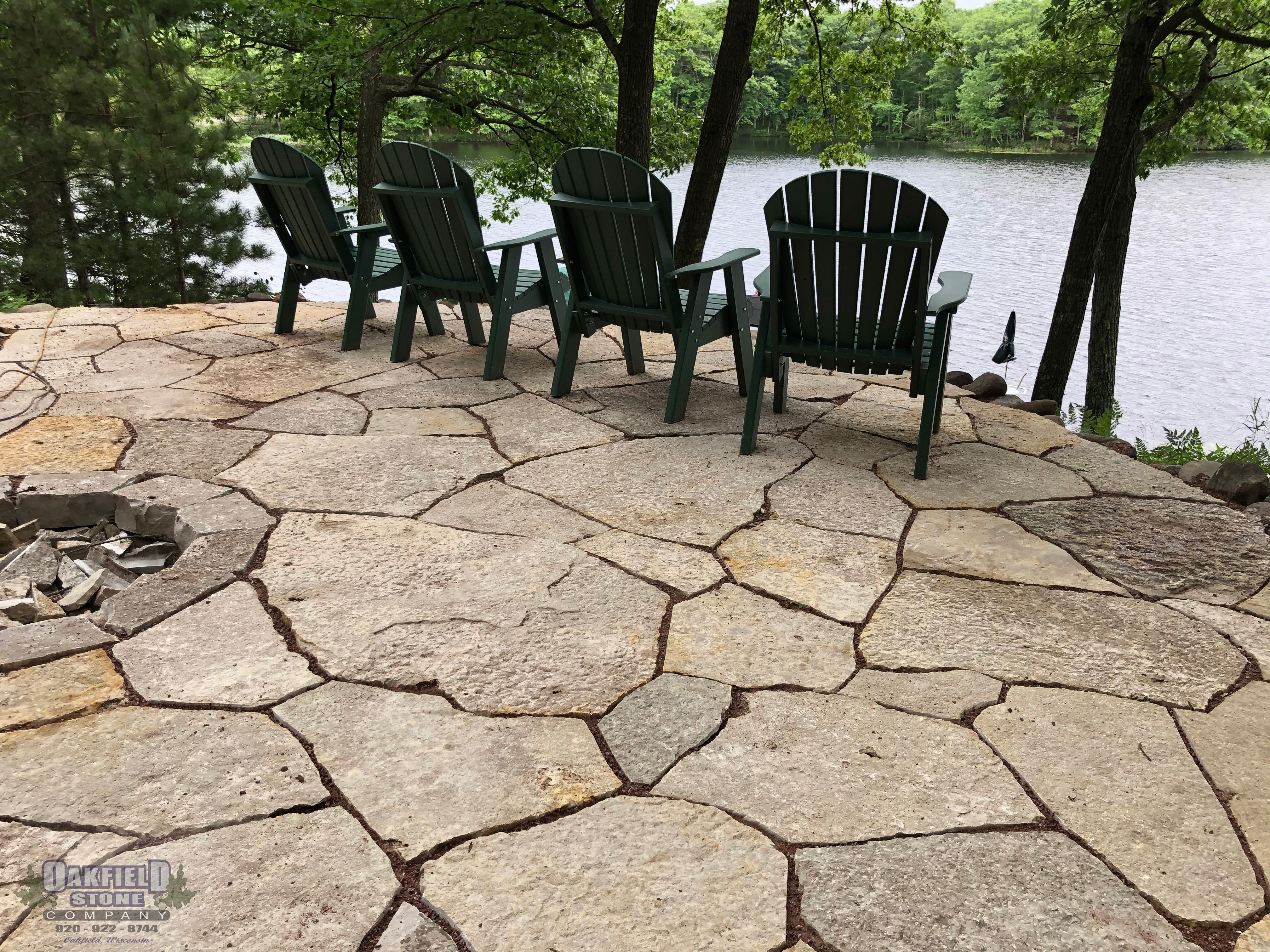 flagstone patio natural landscaping