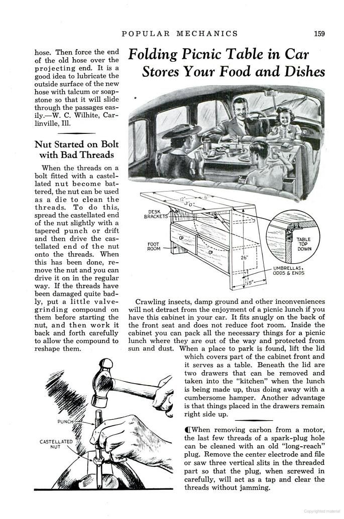 July Popular Mechanics Folding Picnic Table In Car Stores Your - Popular mechanics picnic table