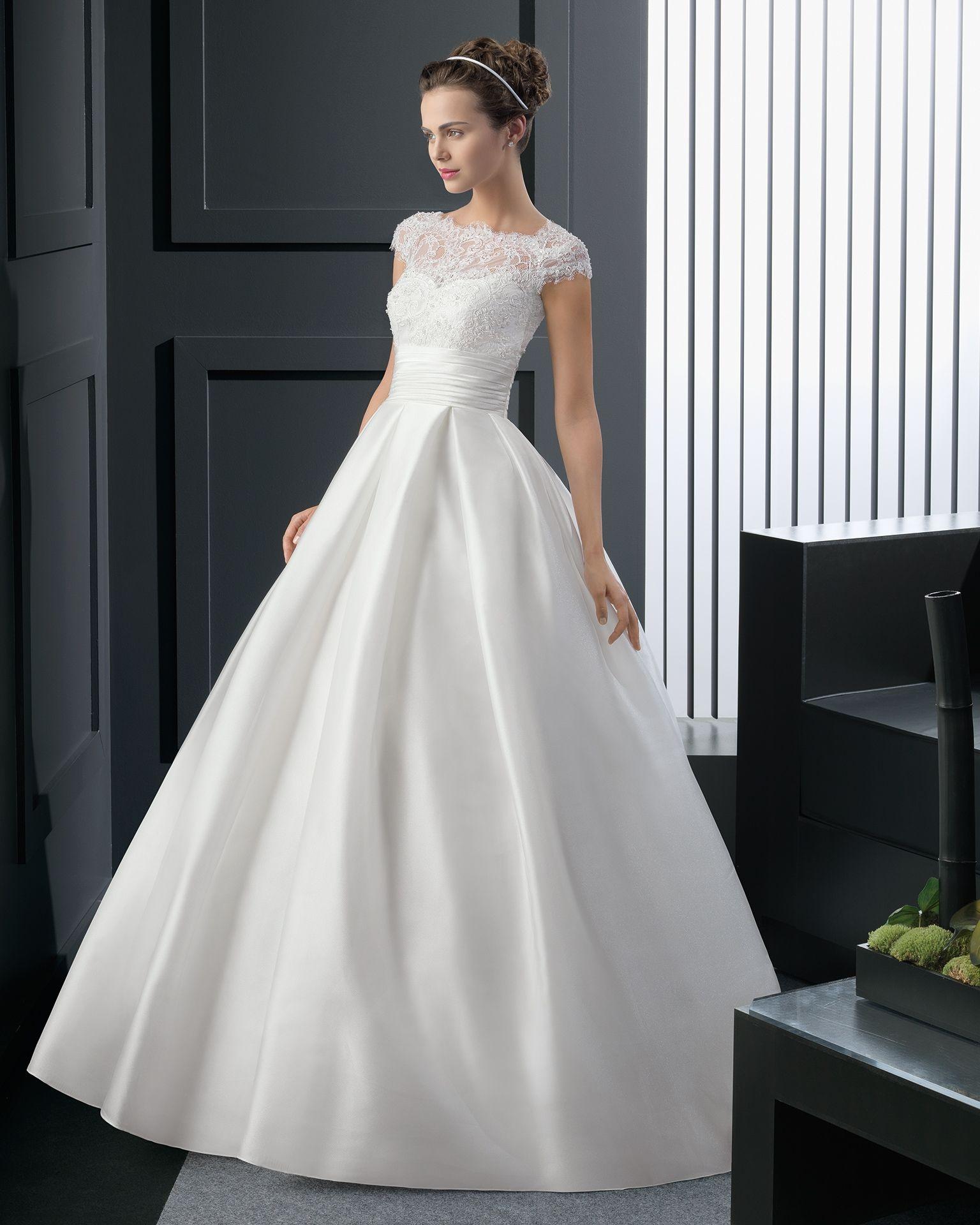 47 8A143 RHEA - Vestido de Novia - Rosa Clará | Vestido | Pinterest ...