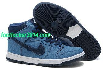 nike blue and black high tops