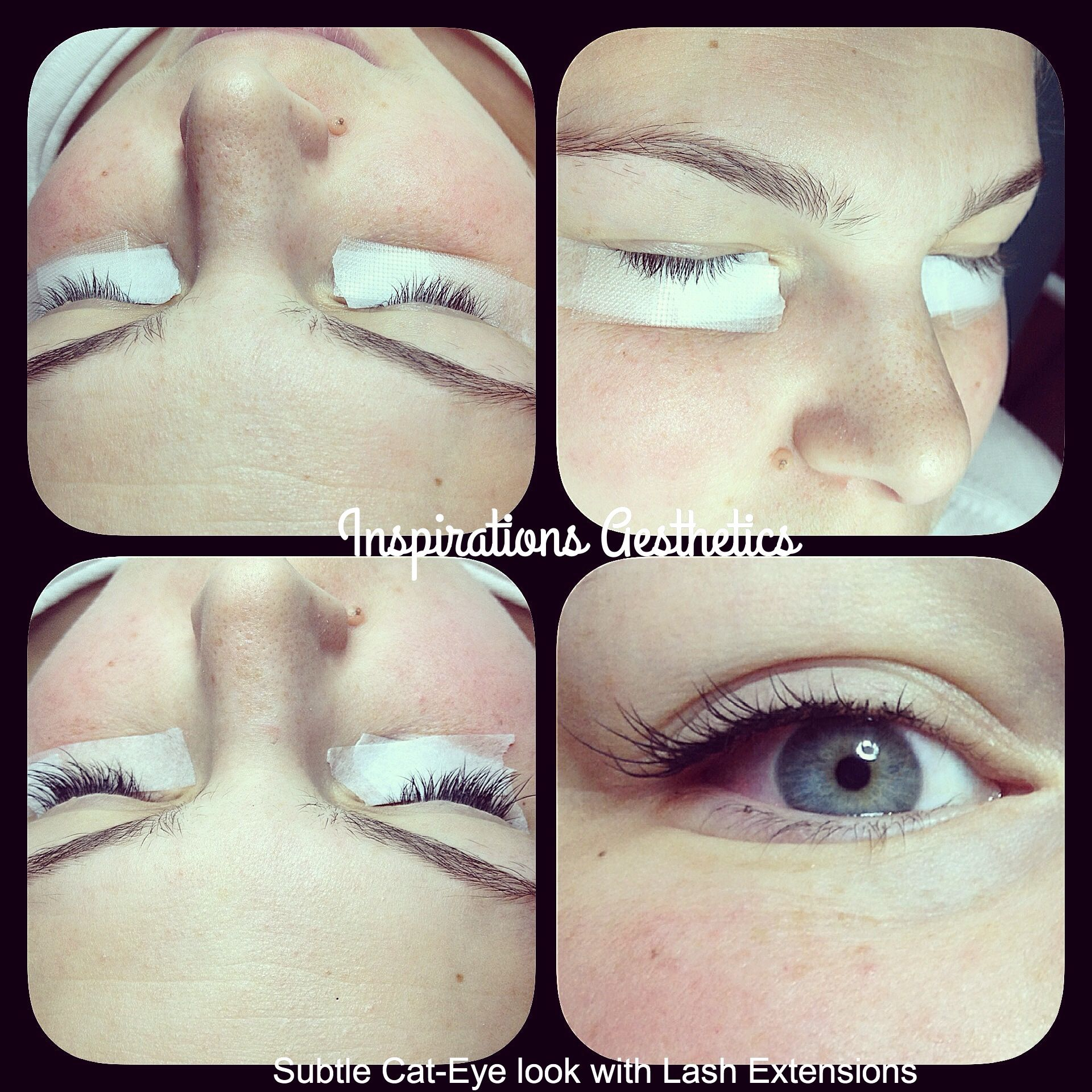Natural Cat eye lash extensions. inspirations aesthetics