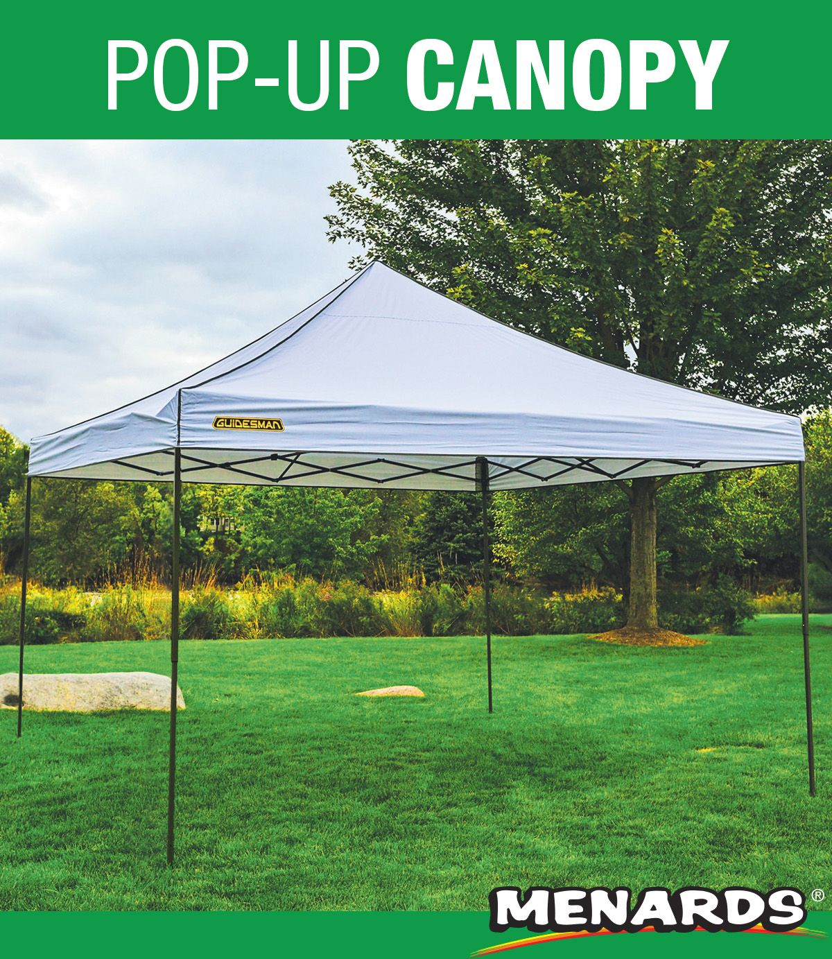 This Guidesman Pop Up Canopy Provides 144 Square Feet Of Shade To Protect And Cool 10 To 14 People The Frame Design With A Pop Up C Canopy Patio Frame Design